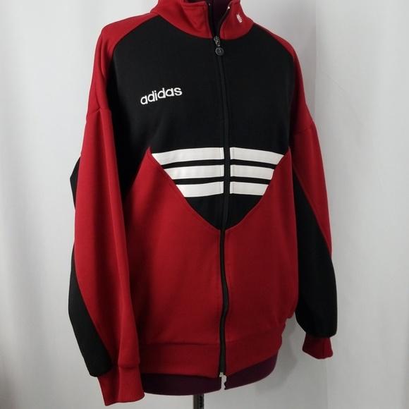 f3f7e827e2f1 adidas Jackets   Coats   Vintage Trefoil Logo Zip Up Jacket Sweater ...